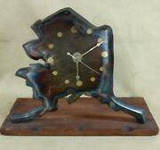 Very Rare Alaska Clock Made From The Pipeline In The 80s Original Older