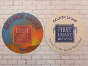 Beer Coaster First Coast Brewing Golden Lager Wilmington Nc Closed