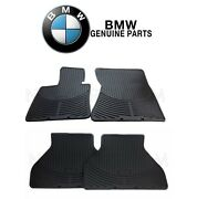 For Bmw X5 X6 Front And Rear All Weather Rubber Black Floor Mat Set Genuine
