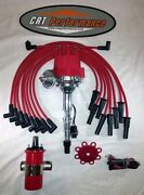 Small Cap Amc Jeep 290,304,343,360,390,401 Red Hei Distributor,45k Coil + Wires