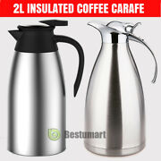 68oz/2l Stainless Steel Vacuum Insulated Thermal Carafe Coffee Pot Water Pitcher