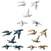Creative 3d Seagull Birds Wall Hangings Resin Home Wall Decorations