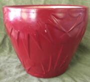 Rrp Co Roseville Ohio Pottery 8 Tall Sun And Moon Planter/pot Painted Red