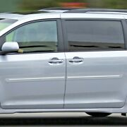 Painted Body Side Moldings With Chrome Trim Insert For Toyota Sienna 2011-2020
