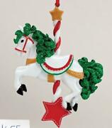 Carousel Horse Personalized Christmas Tree Ornament