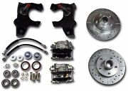 1955-1957 Chevrolet Front Disc Brake Conversion 2 Drop Drilled Slotted