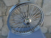 23x3.5 Fat Spoke Front Wheel Harley 2000-07 Flt Touring Bagger And Dyna Wg And Fxst