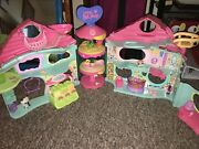 Lps Biggest Littlest Pet Shop Playset With Treat Center Folding Play House