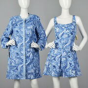 Xxl 1960s Abercrombie And Fitch Swimsuit Romper Dress Cover-up Plus Size 60s Nos