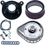 Sands Cycle Mini Stealth Air Cleaner Kit For Harley -teardrop Chrome- 170-0441