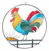 Cute Rooster Ring Pre-cut Stained Glass 8 Studio One 9044 Read The Description