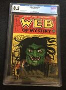 Web Of Mystery 17 Cgc 8.5 Ow-w Pages Iconic Lou Cameron Cover 2nd Finest Known