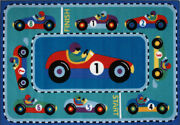 3x5 Fun Rugs Multi-color Pictorial Cars Area Rug Olk-053 - Aprx 3and039 3 X 4and039 10