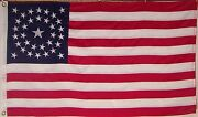 Heavy 600d 34 Star American Flag - Outdoor Embroidered And Sewn - Historical Usa