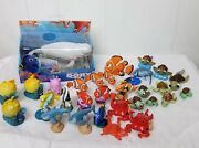 Huge Lot Of Finding Nemo Dory Figures Playset Toys Swimming Bailey Whale