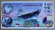Bismarck 2001 Bradbury Cover Signed Ian Fraser Vc And Alfred Lowe George Cross