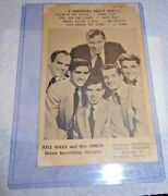 Vintage Card Bill Haley And His Comets 4 Straight Decca Hits Chester Penn.1950and039s