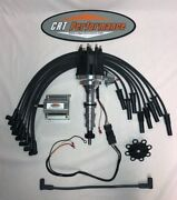 Small Cap Ford Fe 352 390 427 428 Black Hei Distributor + 60k Coil + Plug Wires