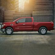 Painted Body Side Moldings W/ Chrome Trim Insert For Titan Ext Cab 2016-2021