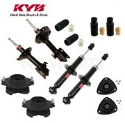Front And Rear Suspension Struts Mount And Bellows Kit Kyb For Subaru Forester 14-15
