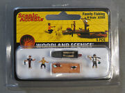 Woodland Scenics Family Fishing N Scale Train Figures Boat Dock Pole Wds2203 New