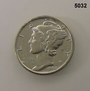 1942 Mercury Silver Dime Proof Impaired 5032