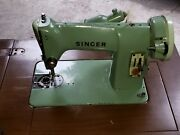 Vintage Singer Sewing Machine In Cabinet W/pedal And Light.