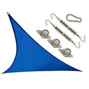 Coolaroo 473921 12 X 12 Ft. Triangle Coolhaven Shade Sail Kit Sapphire