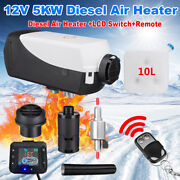 5kw Diesel Fuel Air Heater Lcd Monitor Car Truck Heating Remote Control Dc12v