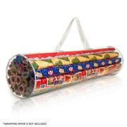 Clear Gift Wrap Storage Bag Organiser Xmas Christmas Birthday Wrapping Paper
