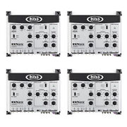 Boss Bx55 2/3 Way Car Audio Electronic Crossover Bass W/remote Control 4 Pack