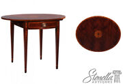 L40866 Federal Mahogany Dropside Pembroke Table W Bell Flower Inlay New