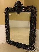 38179 Friedman Brothers 7244 Monumental Black Lacquer Fancy Mirror New
