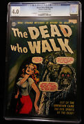 1952 Realistic Comics The Dead Who Walk Nn Cgc 4.0 Cream To Off White Pages