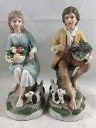 Vintage Homco Young Man And Woman Home Interiors 1408 Couple Figurines Rare