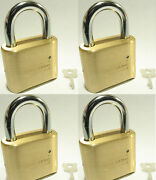 Master Lock Solid Brass 175 Lot 4 Set To Your Own Combination Padlock