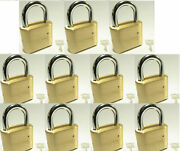 Master Lock Solid Brass 175 Lot 11 Set To Your Own Combination Padlock