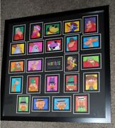 Hanna-barbera Wacky Races Patrick Owsley Signed Sketch Cards Framed Awesome