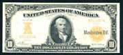 1907 10 Gold Certificate-fr 1168- 66 Reported Only
