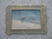 Vintage Cayote Wood Picture Frame Hunting Decor