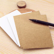 20x Blank Greeting Card Diy Vintage Kraft Paper Gift Craft Message Note Cards S