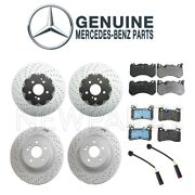 Custom Kit Mercedes W204 Front And Rear Disc Brake Rotors And Pads And Sensors Genuine