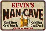 Kevinand039s Man Cave Personalized Metal Sign Wall Decor Gift 108120011026