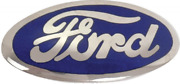 Ford Radiator Shell Emblem Blue 1935-36 Car And 1936 Pick Up And 1938 Standard