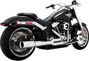 Vance And Hines Chrome 2 Into 1 Pro Pipe Exhaust For 18-19 Harley Davidson Softail