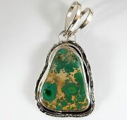 Large Rare Sterling Silver Carico Lake Turquoise Drop Pendant