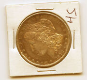 1878-s 1- Unique Rare Red And Rainbow Toning Morgan Silver Dollar