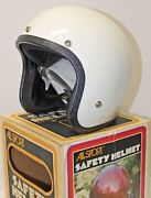 Vintage All Sport Lsi 4170 White Safety Motorcycle Helmet Nib Made In Usa 1975