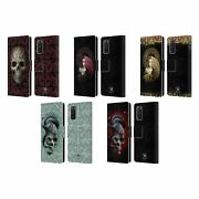 Official Anne Stokes Oriental Skull Leather Book Case For Samsung Phones 1