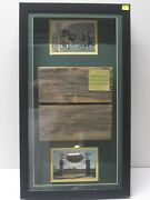 Authentic 1957 New City Stadium And 1967 Ice Bowl Seating Framed W/ Photos